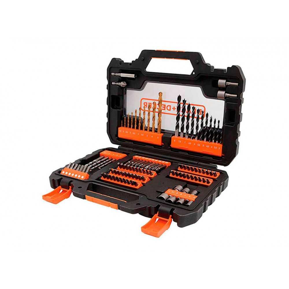 Set Accesorios Atornillar y Perforar 104 Piezas Black&Decker A7230-XJ