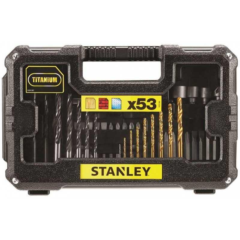 Set Accesorios Perforar y Atornillar 53 Piezas Stanley STA7223-XJ