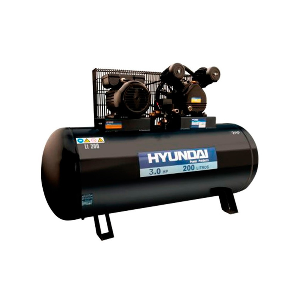 Compresor Monofásico 3HP 200L 115psi Hyundai 78HYAC200