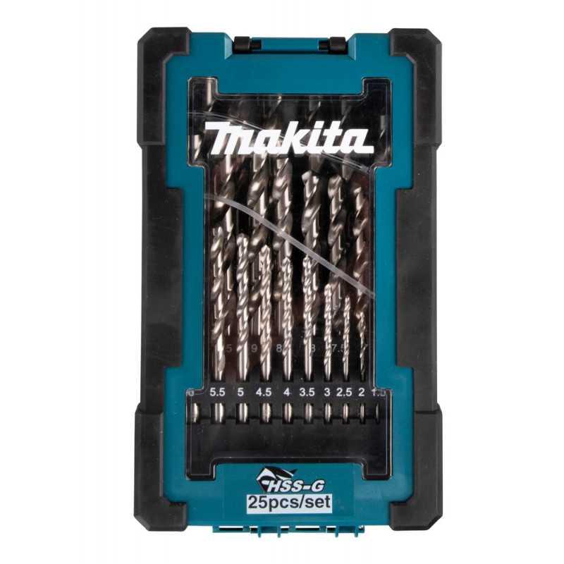 Set Brocas Metal HSS-G 25 Piezas Makita D-67555