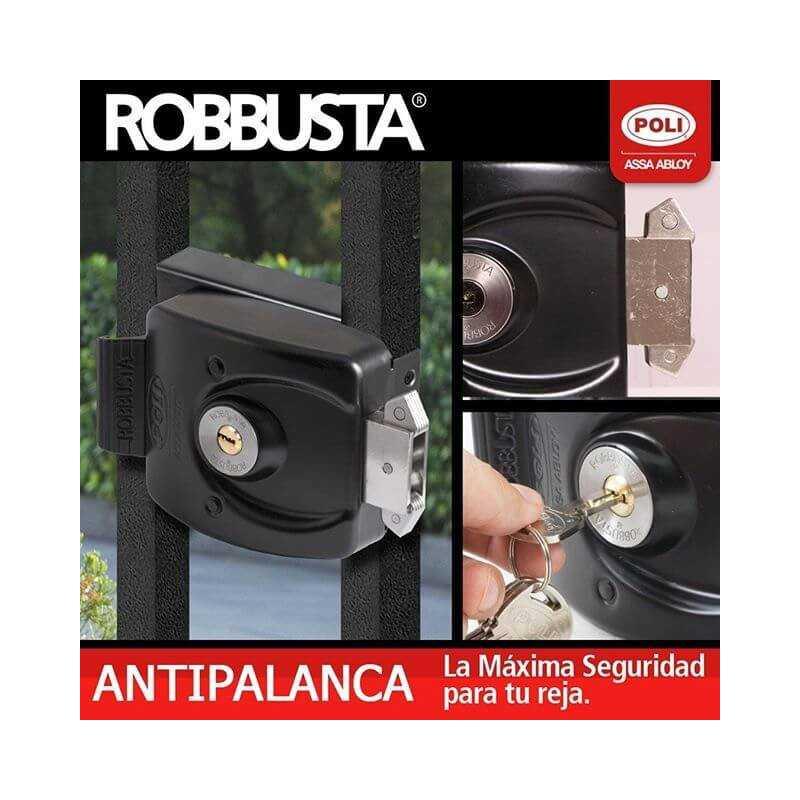 Cerradura Sobreponer Robbusta Alta Seguridad Antipalanca Poli 146821