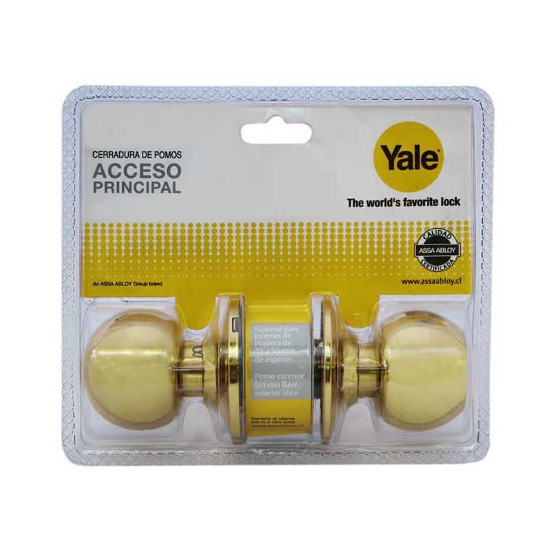 Cerradura Cilíndrica Acceso Bronce Pulido Yale 134681