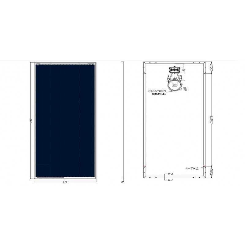 Panel Solar Policristalino 160W 1480x640x35mm Want Energia 35441