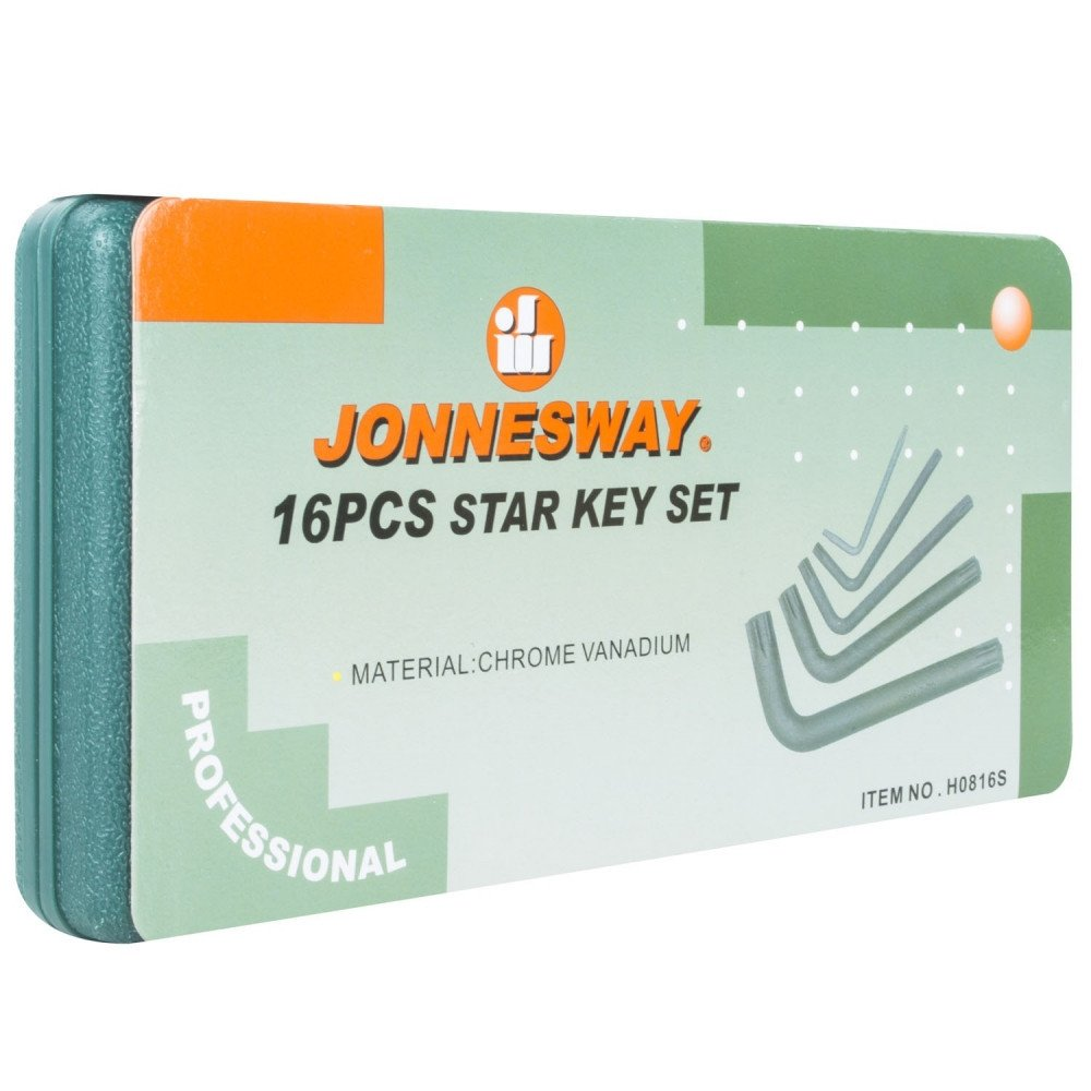 Juego de Llaves Torx 16 Piezas H0816S Jonnesway MI-JON-33001