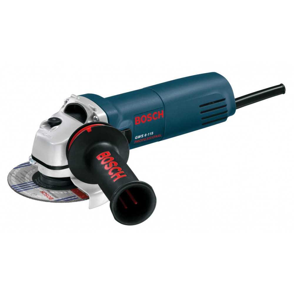 """Bosch Esmeril Angular 4 1/2"""". 670W. 11.000 r.p.m. 1,4 kg Cod GWS 6 - 115"""
