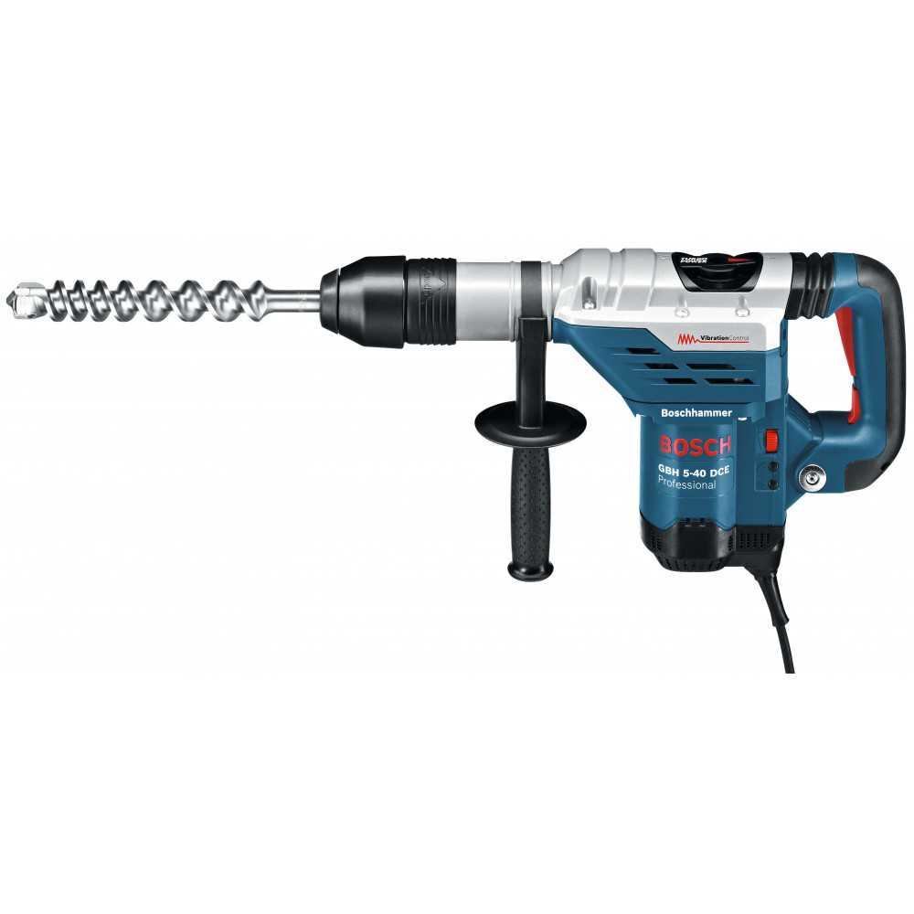Bosch Martillo Perforador con SDS-Max 1.150W. 8,8 J. 3.050 g.p.m. 6,8 kg Cod GBH 5-40 DCE