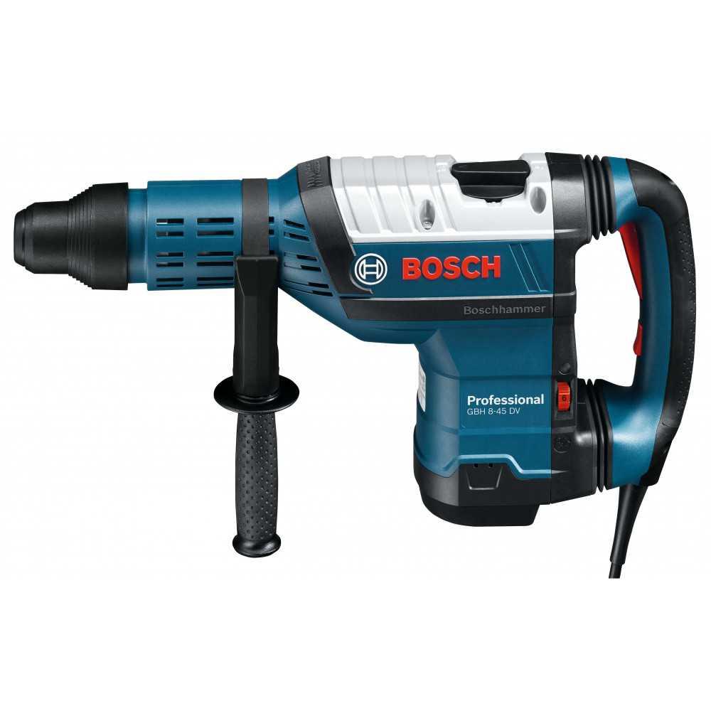 Bosch Martillo Perforador con SDS-Max. 1.500W. 12,5 J. 2.760 g.p.m. 8,9 kg Cod GBH 8-45 DV