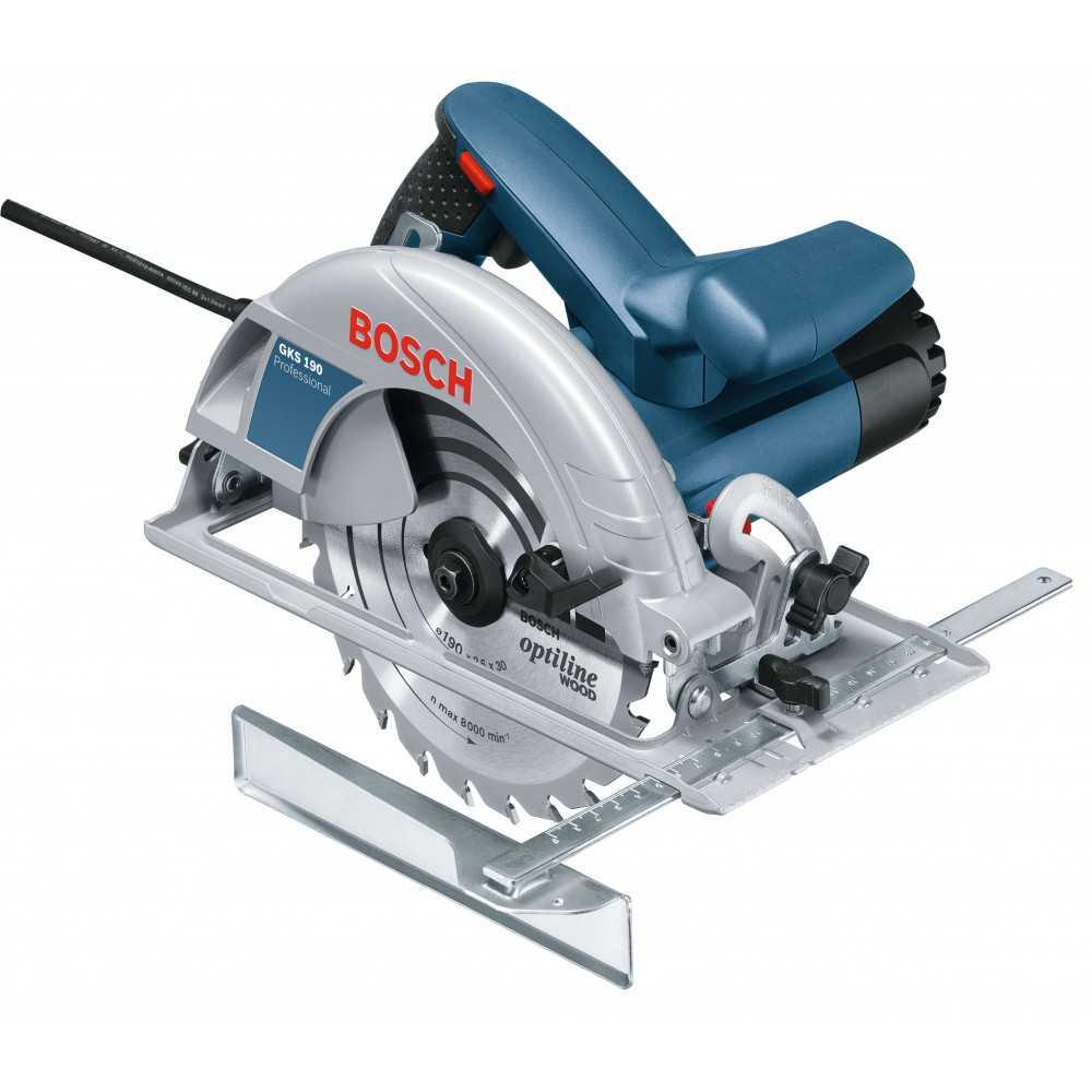 Bosch Sierra Circular 1.400W. 5.500 r.p.m. 4,2 kg Cod GKS 190