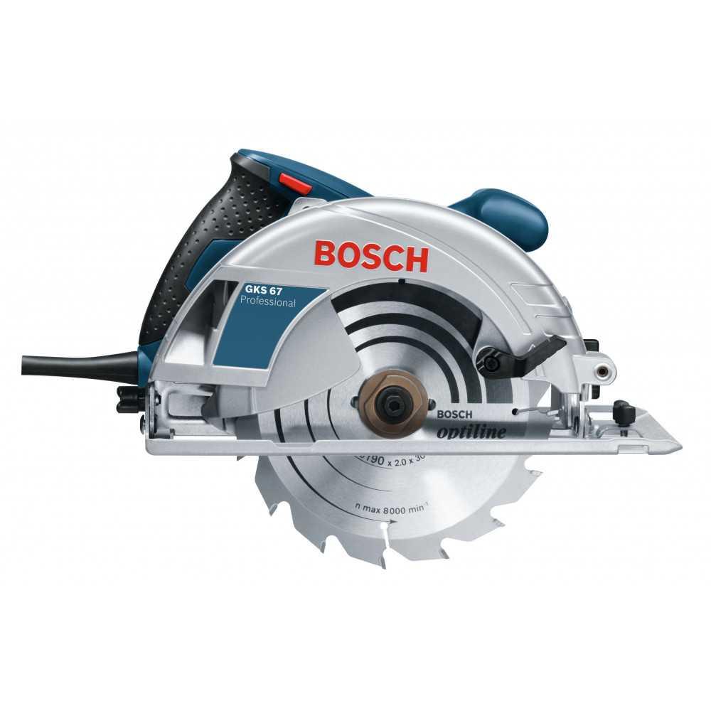 Bosch Sierra Circular 1.600W. 5.200 r.p.m. 4,1 kg Cod GKS 67