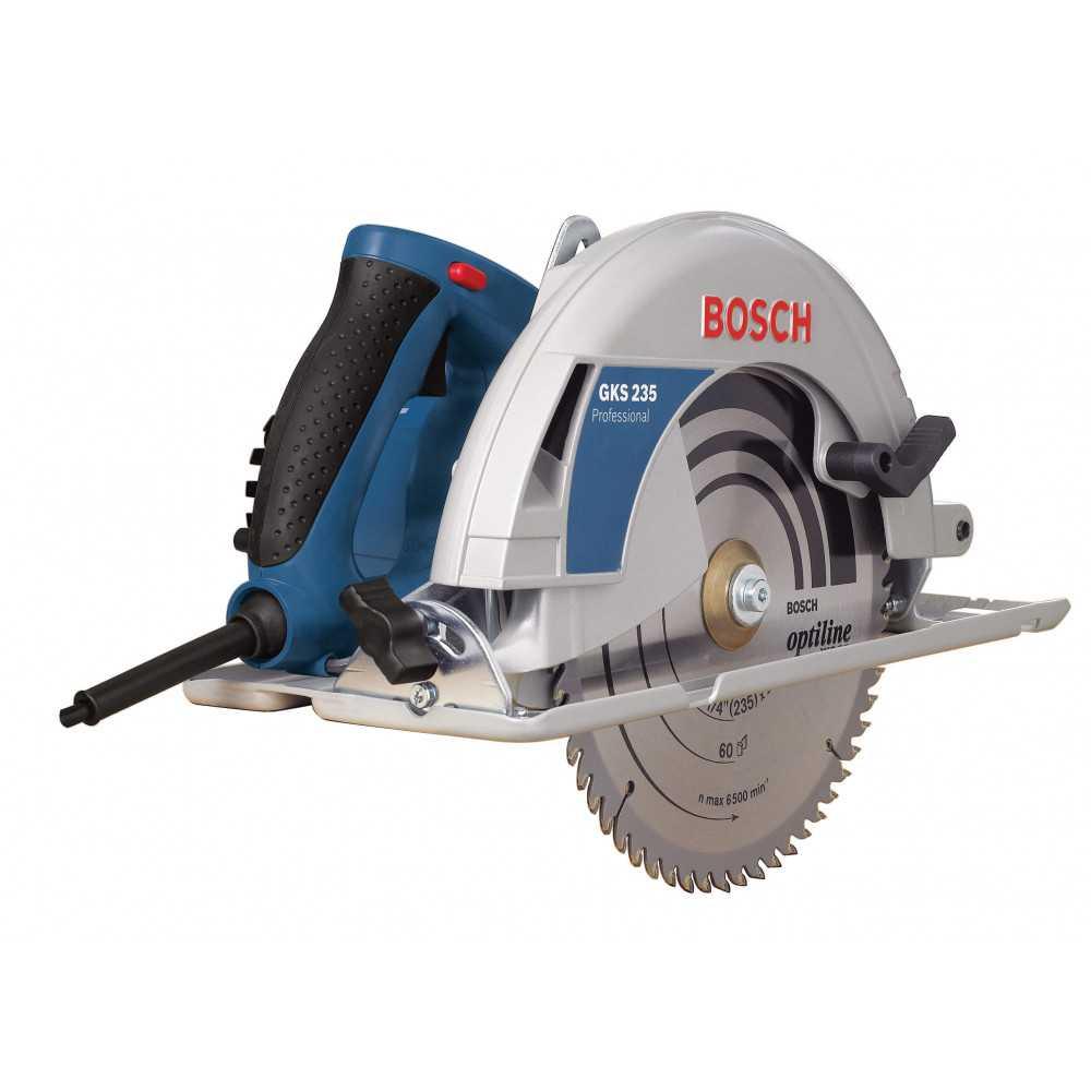 """Sierra circular 9 1/4"""" 2100W 7,6 kg Bosch GKS 235"""