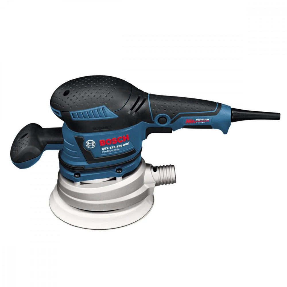 Bosch Lijadora Excéntrica 150 mm. 400W. 12.000 r.p.m. 2,4 kg Cod GEX 125-150 AVE