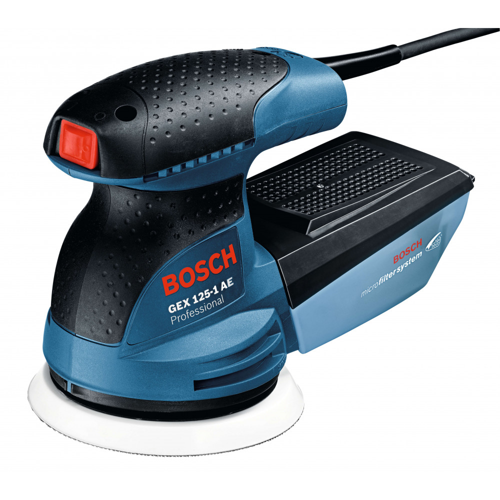 Bosch Lijadora excentrica 125 mm. 250W. 12.000 r.p.m. 1,3 kg Cod GEX 125-1AE