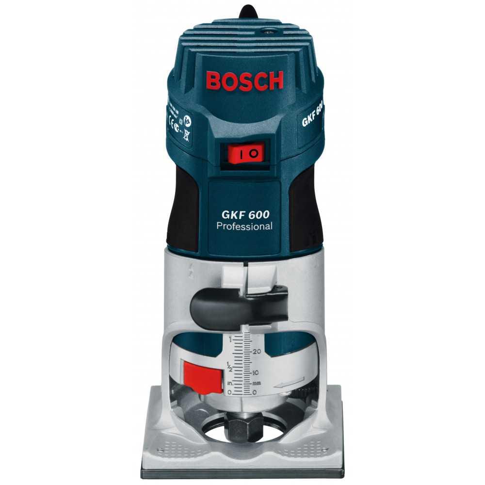 Bosch Fresadora de cantos 600W. 33.000 r.p.m. 1,5 kg Cod GKF 600