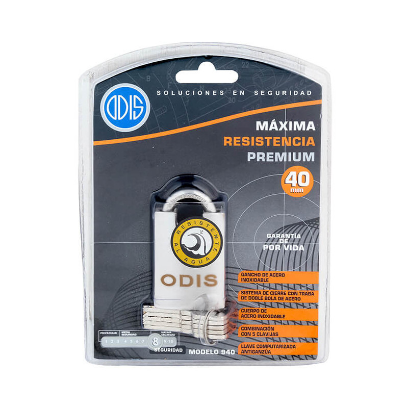 Candado 40mm Acero Inoxidable 940 Odis CAN0000102