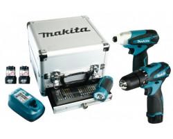 Set de Atornilladores + Linterna + Set de accesorios Makita DK1485X3