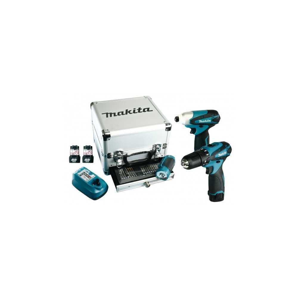 Makita Set de Atornilladores + Linterna + Set de accesorios. Cod DK1485X3