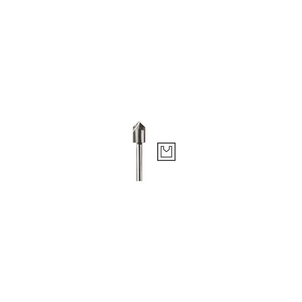 """Fresa ranura en v 6,4 mm, 1/4"""" Dremel 640"""