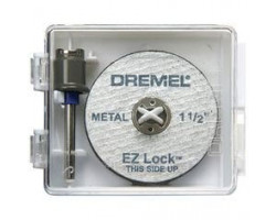 Kit mandril/disco metal ez lock Dremel EZ406