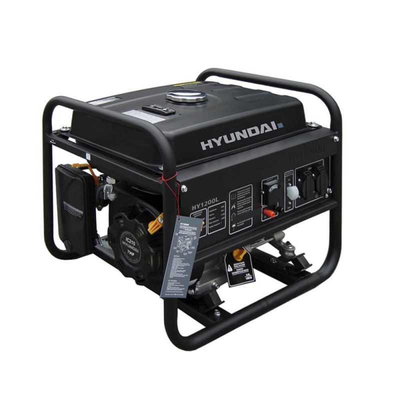 Generador Gasolina 0,9/1 Kva/Kw Partida manual monofásico Abierto HYUNDAI 78HY1200L