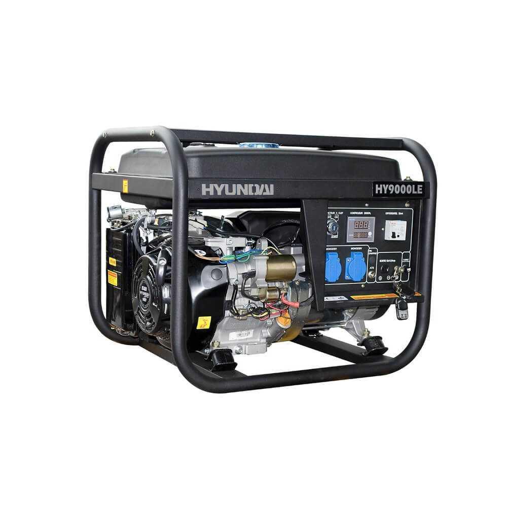 Generador Gasolina 6/6,5 Kw/Kva Partida eléctrica monofásico Abierto HYUNDAI 78HY9000LE