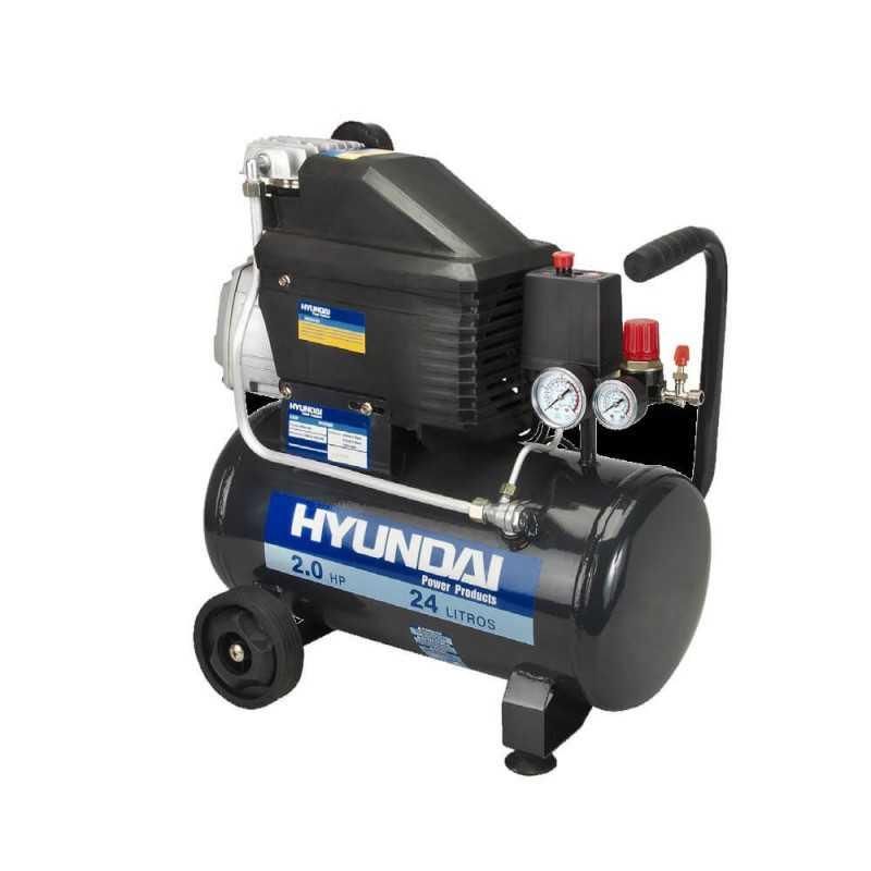 Compresor Monofásico 1,5HP 24L 115psi Directo HYUNDAI 78HYAC24P