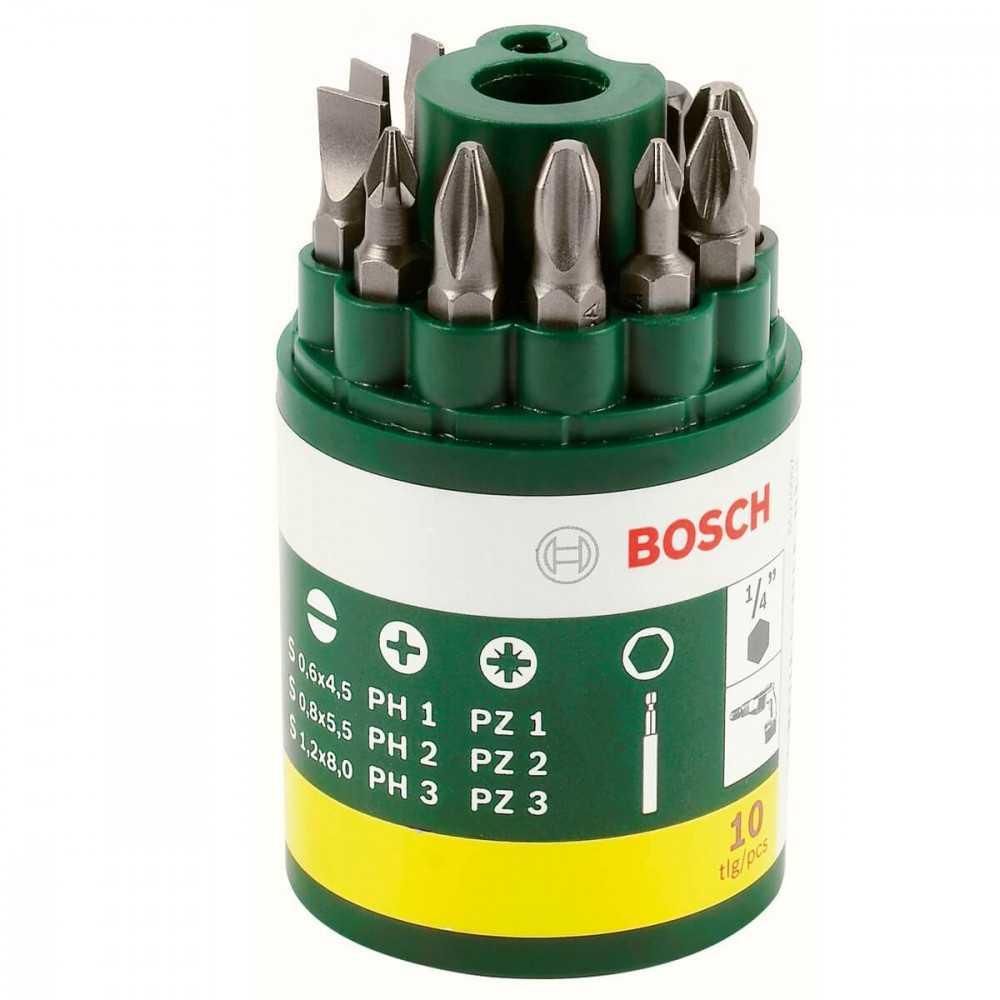 Set 10 puntas de atornillador extra duras Bosch 2607019454