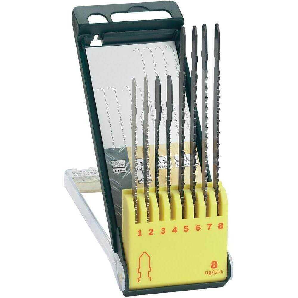 8 piezas hoja de sierra casette madera-metal Bosch 2607019458