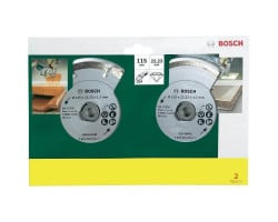 "Set de 2 discos diamantados (Seg y Cont) de 4 1/2"" (uso normal) Bosch 2607019478"
