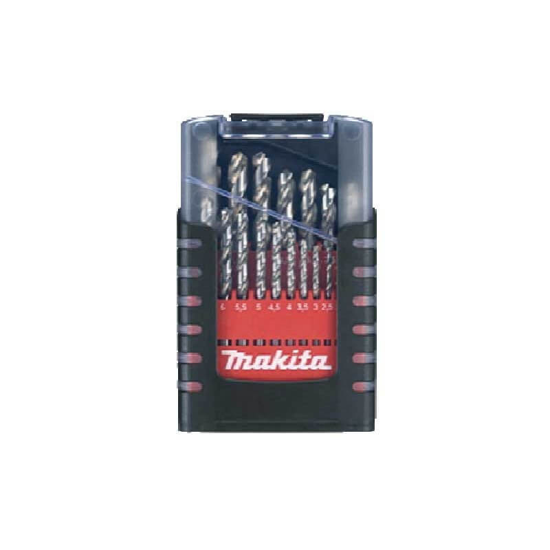 Set Brocas Metal HSS 19 piezas de 1-10mm Makita D-50740