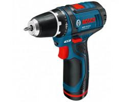 Taladro/Atornillador 2 Velocidades (2 Bater ías + Cargador) Bosch GSR 12-2 LI (Con Maleta)