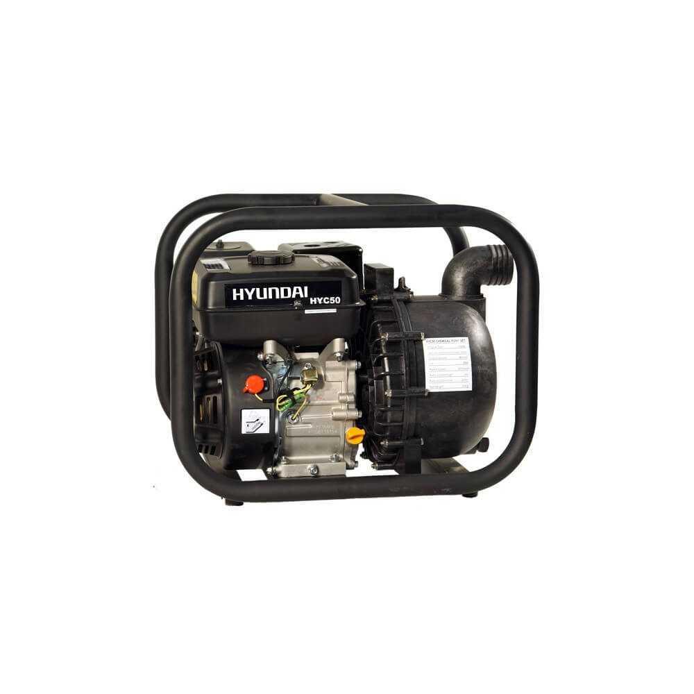 "Motobomba Gasolina 2""x2"" Partida manual Liquidos corrosivos HYUNDAI 78HYC50"