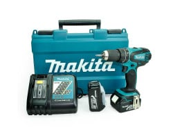 Taladro-Atornillador C/Percusión 13 mm - 2 vel variable (max Torque 50 Nm) 1,6 kg Makita DHP456RFE