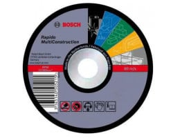"Disco de corte rápido 4 1/2"" 1mm Multiconstruction Bosch 2608602384"