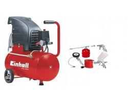 Compresor 2 Hp 24 Lt Einhell TC-AC 190/24/8 + Kit Accesorios Compresor