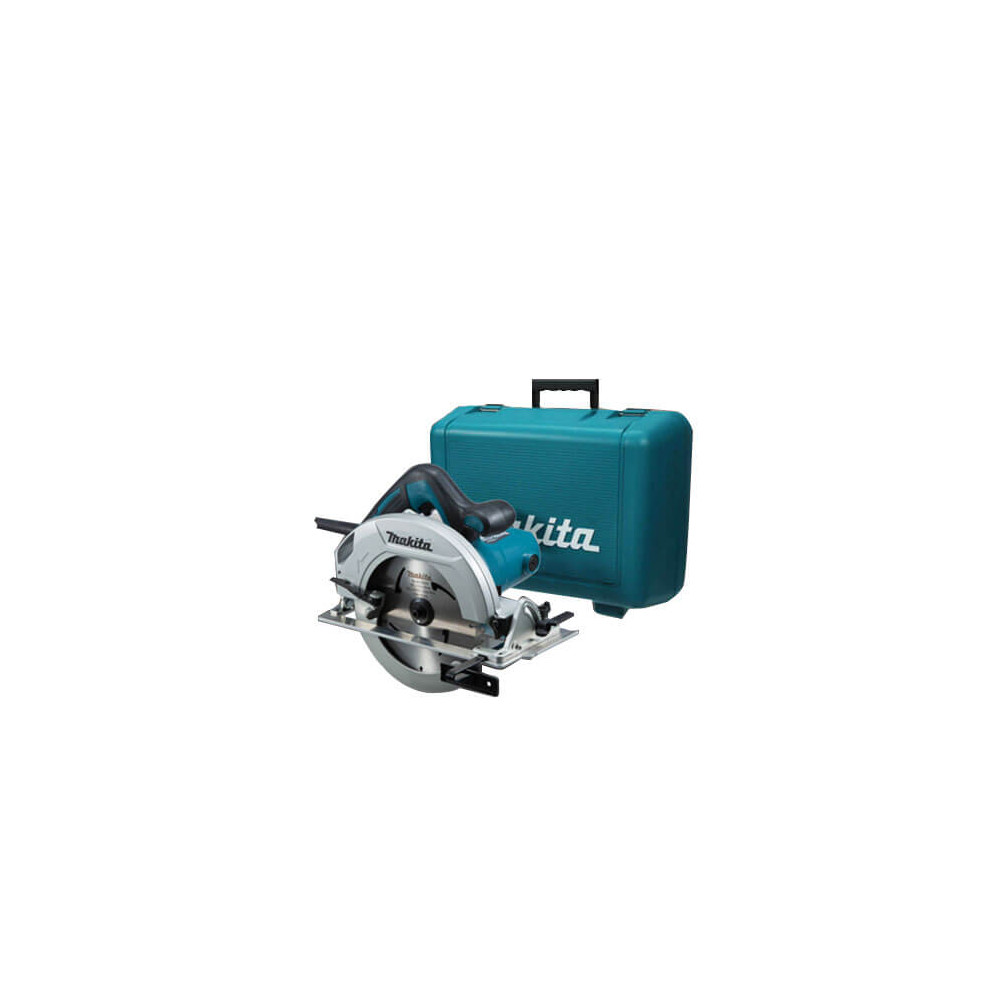 "Sierra Circular 7-1/4"" (185 mm) eje 5/8"" 1200 W Capacidad MaxCorte 64 mm Base de aluminio Makita HS7600 + Maleta"