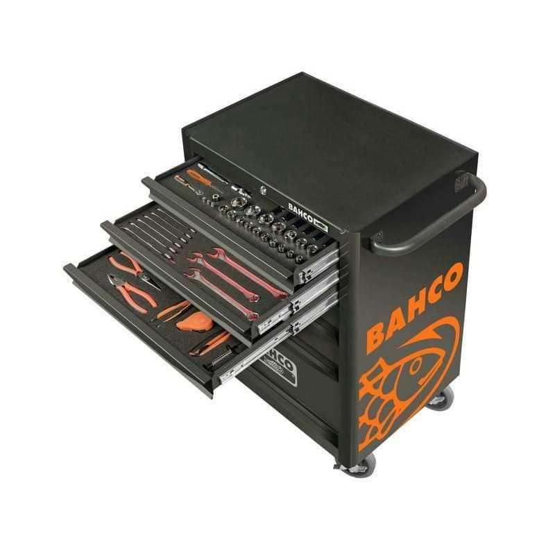 Carro Porta herramientas Edición aniversario 130 años, 146 pzs, 7 cajones Bahco 1470K7BKFFC13