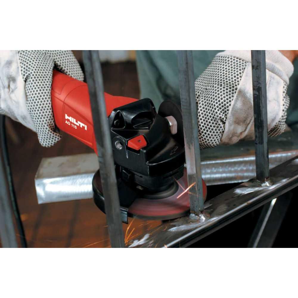 Esmeril Angular 850 W (230 V) + Juego de Carbones Hilti AG 115-8D