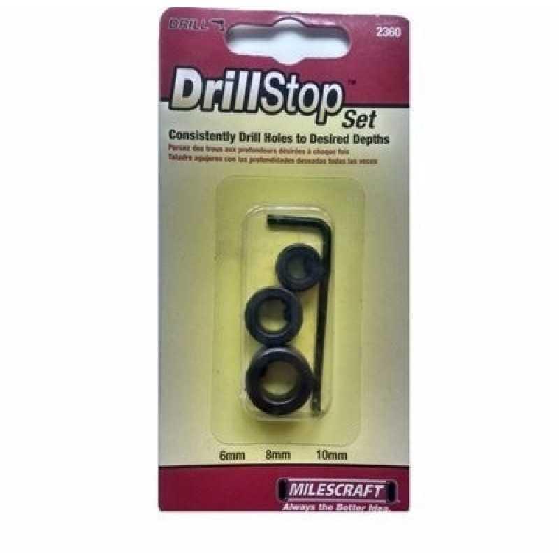 Juego de topes 3 pcs DrillStop Set Milescraft 2360