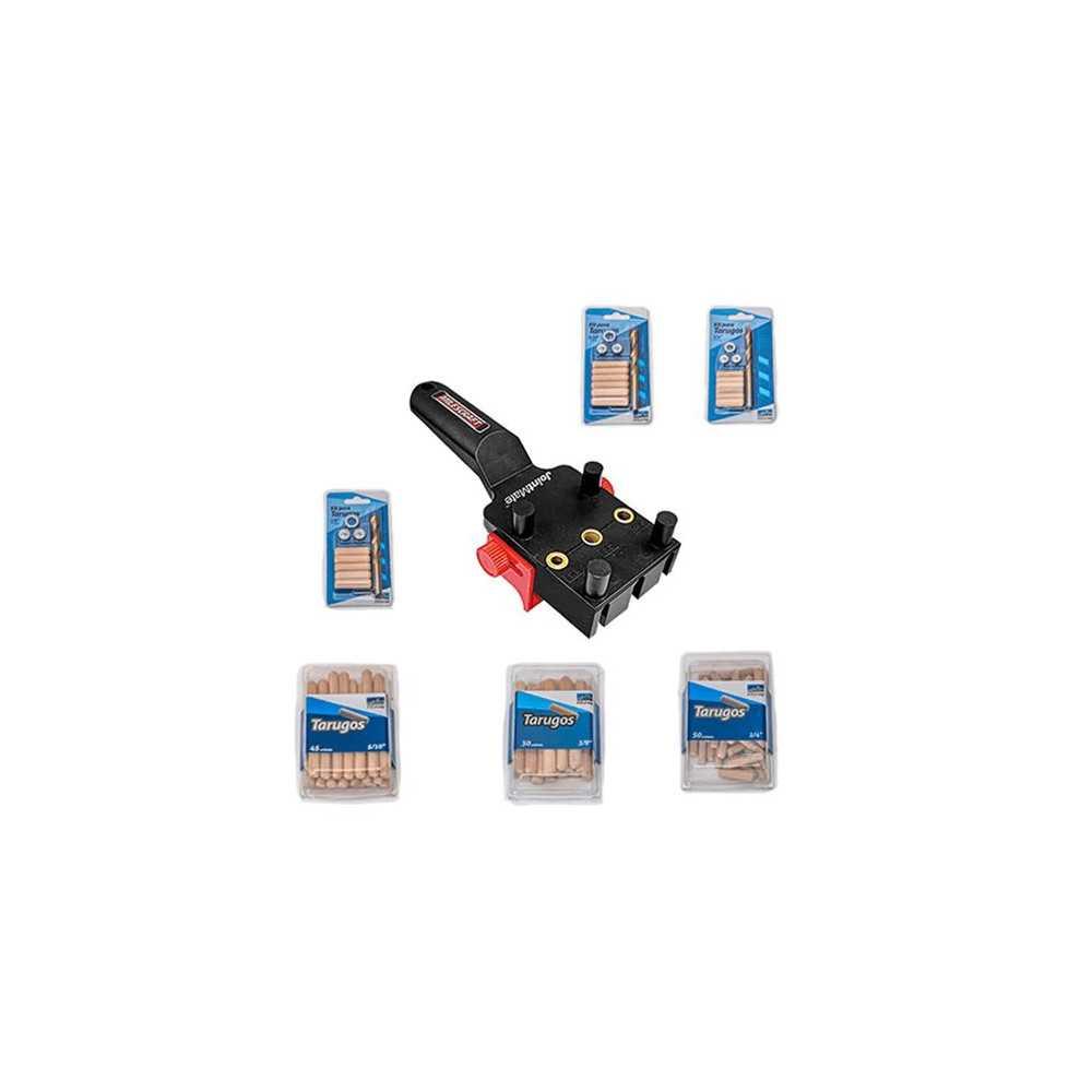 Kit Carpintería Guía para tarugos y accesorios. Milescraft Kit 6