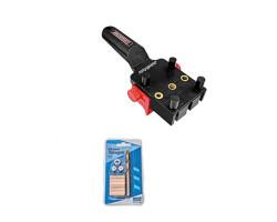 """Kit Carpintería Guía para tarugos y Kit de brocas y tarugos ¼"""". Milescraft Kit 8"""