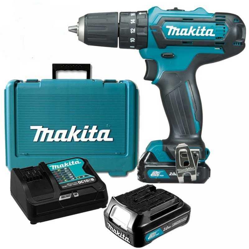 Taladro Percutor 12V 1.5Ah (2 baterías + cagador) Makita HP331DWYE