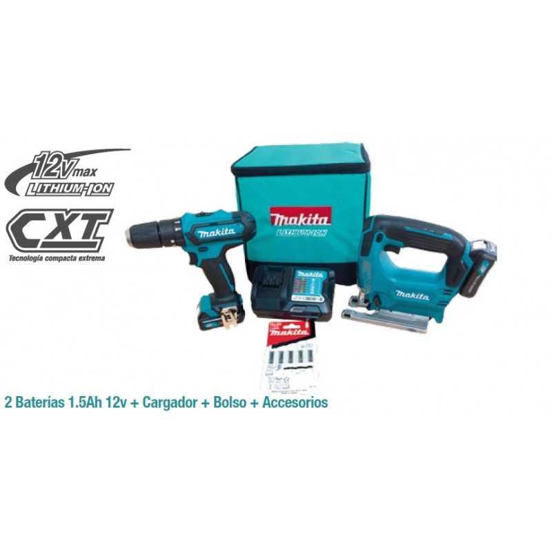 Combo Taladro Percutor + Sierra Caladora Makita CLX212