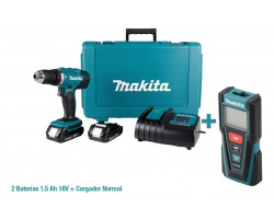 Combo Taladro Percutor + Medidor Laser Makita DHP453SYE-1