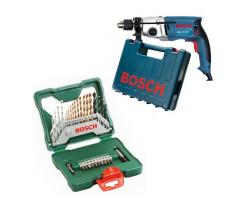 Taladro de percusión 800 W 3000 rpm 2,5 kg Bosch GSB 20-2 RE + Set Accesorios 30 piezas Bosch