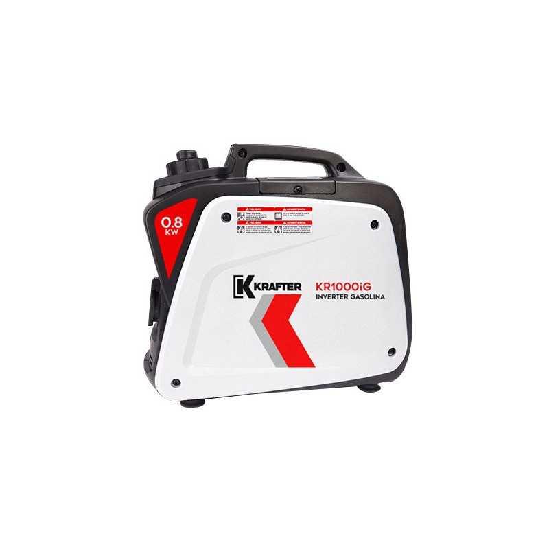 Generador Eléctrico Inverter a Gasolina 800 W KRAFTER KR 1000 IG