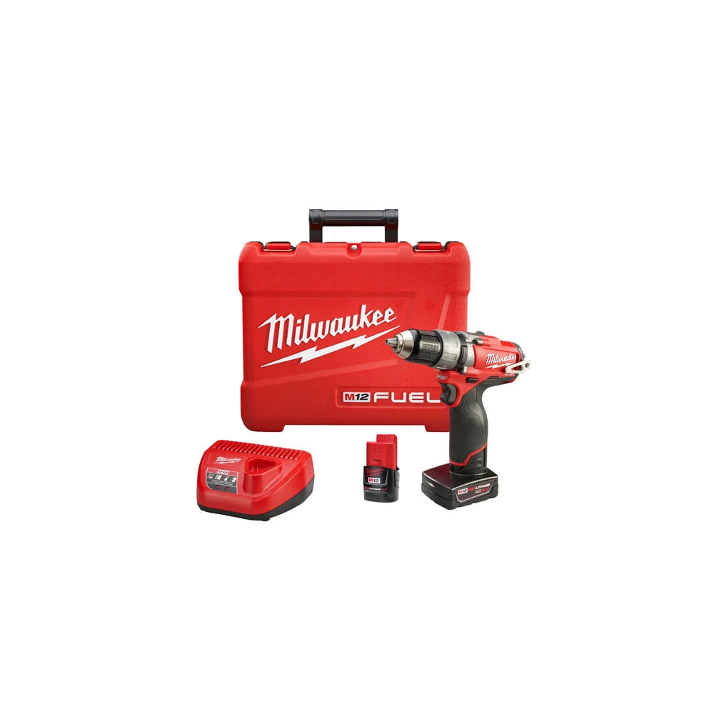 Taladro Atornillador Percutor Inalámbrico 13 MM, 2 BAT. Milwaukee 2404-259