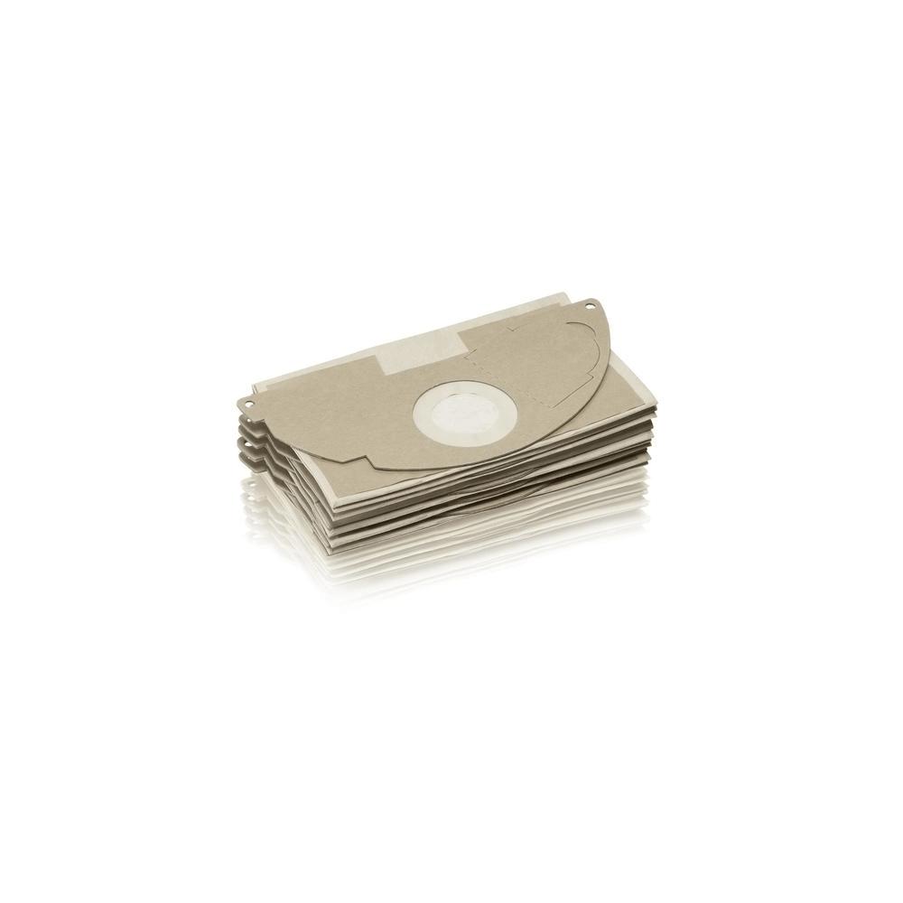 Pack 5 Bolsas Repuesto Aspiradoras Polvo y Agua Karcher MV2 / WD2