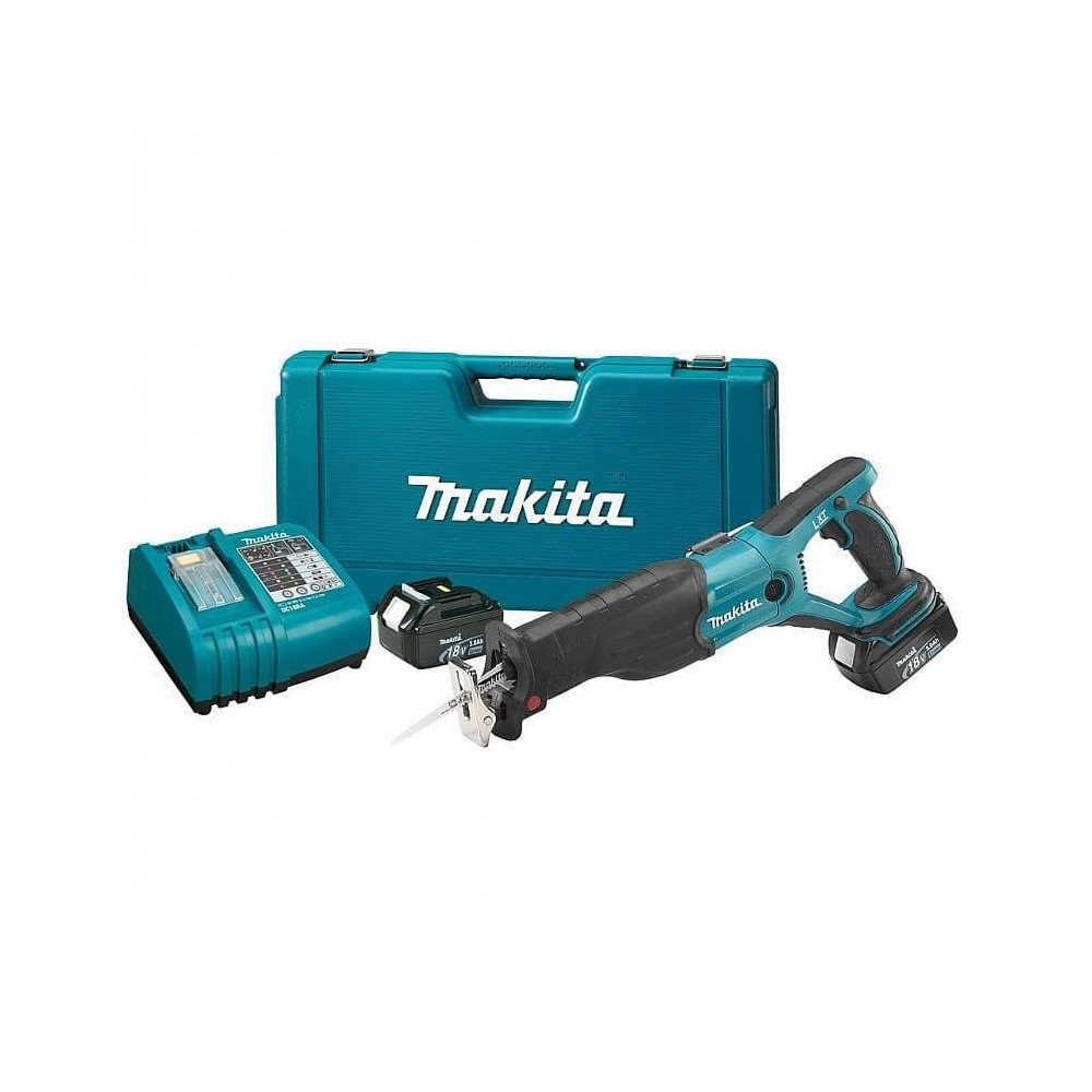Makita Sierra Sable  Vel. Variable 0-2.900  Capacidad máxima corte 130 mm. 3,6 kg Cod BJR182RFE