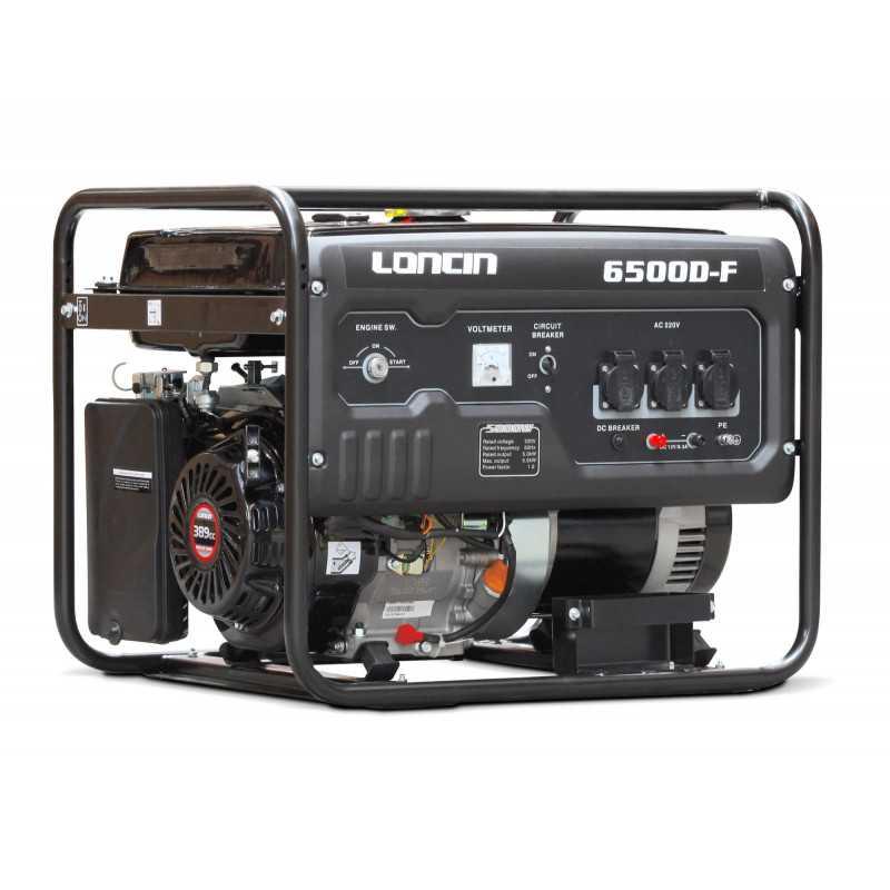 Generador Gasolina de 5,5 Kva Loncin LC6500DF