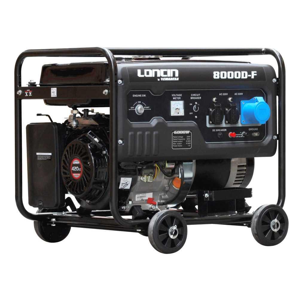 Generador Eléctrico Gasolina de 7 Kva Loncin LC8000DF